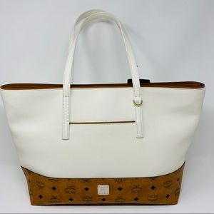 MCM Wilder Visetos Leather Shopper Bag